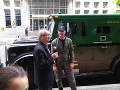 Mel Chin with Armored Car driver