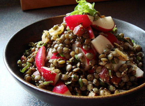 Lentil Salad with Radish & Hazelnut