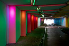 _DSC2633 (durr-architect) Tags: tunnel vision herman kuijer light installation dutch underpass zutphen netherlands architecture art designer artist colourful luminescent motorists cyclists pedestrians time space kcap baljon baauw royal haskoning dhv bam prorail train railway