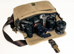 3-Lens Kit (Graham Gibson) Tags: sony a7rii zeiss voigtlander f18 55mm 28mm f2 15mm f45 iii ona bowery bag super wideheliar aspherical emount acame20 artisan artist khaki