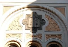 Spanish Synagogue, Roman numerals (tom_marzipan) Tags: shadow prague synagogue praha oldtown romannumerals staremesto spanishsynagogue mesto stare staremesto spanlsksynagga