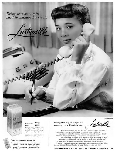 Lustrasilk Home Permanent Advertisement - Ebony Magazine, January, 1960
