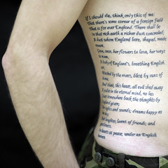 (David Crausby) Tags: man male tattoo soldier army poetry poem cal british bodyart rupertbrooke cotcmostfavorited