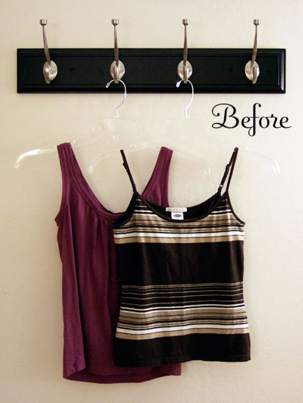 DIY tank top totes before