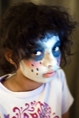 Halloween Eve (Just some dust) Tags: halloween girl child zombie makeup tm facepaint ghoul paintedface