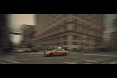 Cab Chase (- Loomax -) Tags: newyork motion streets building car speed book yellowcab fast cinematic frontpage cinemascope flatirondistrict roadjunction