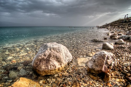 Salty Rocks at the Dead Sea