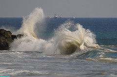 Ventura3748 (mcshots) Tags: ocean california travel autumn sea usa beach nature boats coast surf waves stock socal mcshots venturacounty