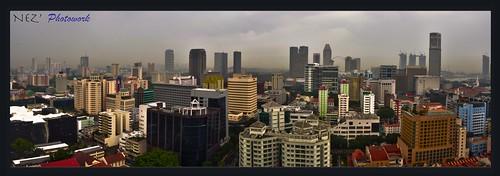 panorama afternoon singapore