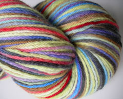 """Topography"" on Merino Sock Yarn - 3.5oz"