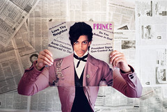 30 Days of Life Support - Prince - I Just Can't Believe All the Things People Say, Controversy. (Jeniee) Tags: love girl newspaper nikon album vinyl prince record controversy explored d80 sleeveface