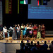 Members of the International Student Organization (ISO) lead worship during International Education Week.