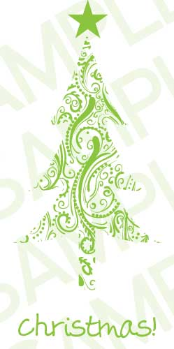 Green Ornamental Tree Card