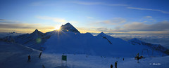 Hintertuxer Gletscher - West  Panorama View from Gefrorene Wand (dali@flickr) Tags: snow ski alps skiing bluesky glacier alpen gletscher austrian glacial mountans  hintertuxer