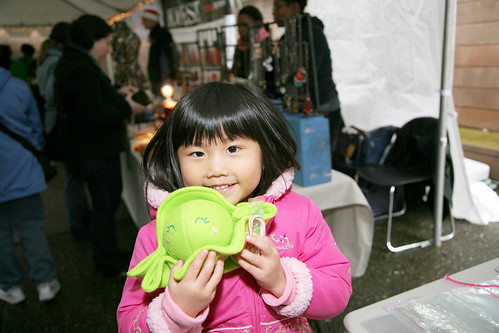 Cute Girl with a Mochi Studios Baby Pea Pod by BazaarBizarreSF