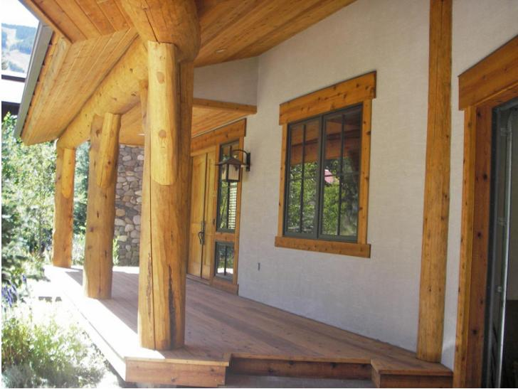 Best Home Design in Warm Springs Log Stain House 3