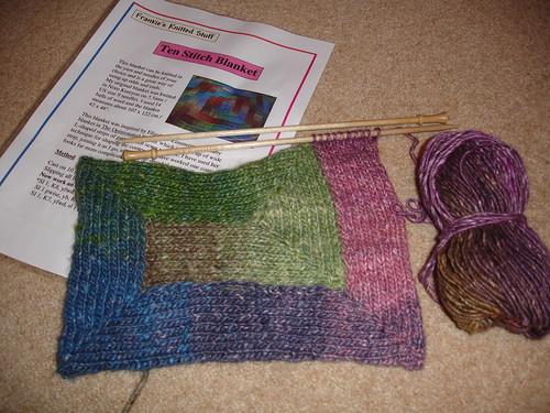 10 stitch blankie WIP