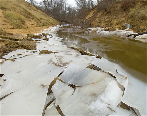 Ice Along Kintzele Ditch