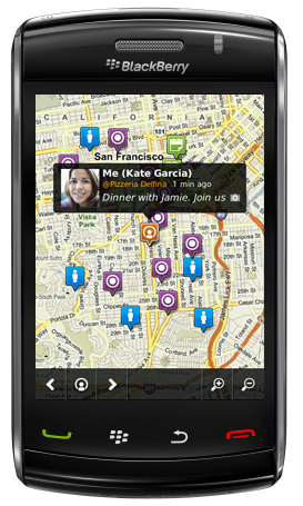 Loopt - Discover Map - BlackBerry Storm