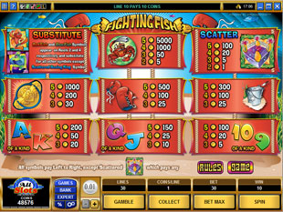 free Fighting Fish slot mini symbol