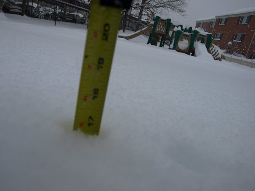 17 inches in Alexandria at 4 p.m.