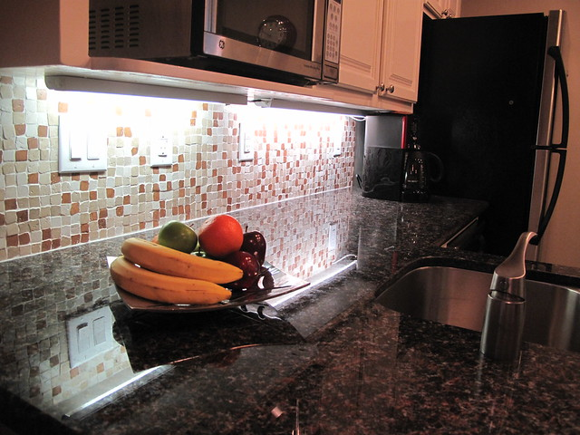 Tan Brown Granite with Tile Backsplash | Flickr - Photo Sharing!