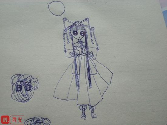侄女的绘画作品