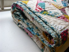 { geometric squares quilt finished } ({ philistine made }) Tags: quilting quilts halfsquaretriangles winter2009 geometricsquaresquilt