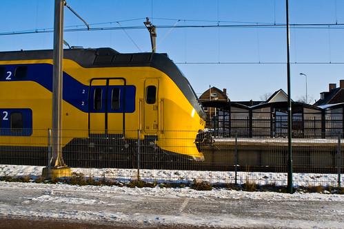 Trein bij Station Castricum