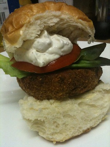 Sweet potato and lentil burger