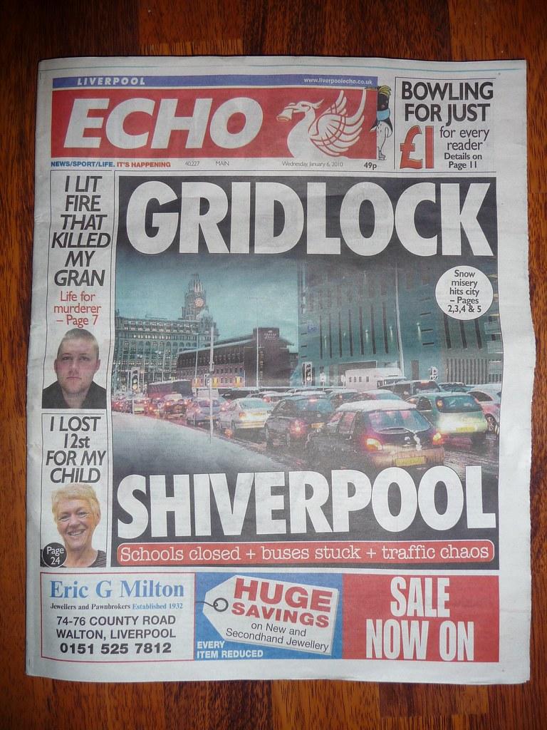 Liverpool newspaper headlines