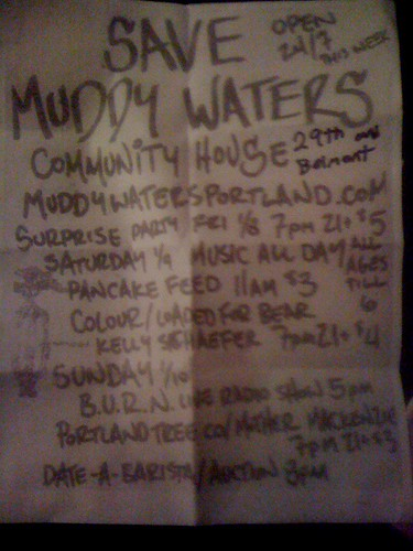 Muddy Waters fundraiser, portland, oregon