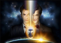David Tennant and Matt Smith in Doctor Who