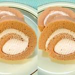 いちごクリームロールケーキ strawberry taste roll cake (parallel 3D) thumbnail