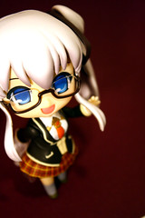 Nao:: Konnichiwaa~ (shinzai) Tags: school cute toy glasses miniature uniform small chibi version mini special tiny kawaii figure limited nao mabinogi staccato jfigure nendoroid nendoron