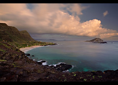 Makapu'u Morning (JN) Tags: ocean morning sea sunrise dawn hawaii bay coast nikon view oahu scenic lookout east 1735mmf28d makapuu makapuubeachpark kalanianaole 1735mmf28 mananaisland d700 koahikaipu