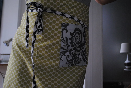 auction item: yellow apron