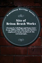 Photo of Briton Brush Works green plaque