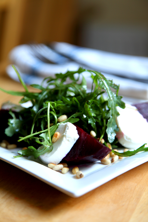 :: Beetroot, Goats Cheese, Pine Nut and Rocket Salad