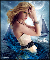 # Taylor Swift - Breathe (samuelpera) Tags: ocean moon glass make up night photoshop studio mar flickr explore midnight taylor lua swift breathe samuel fearless luar colbie photofiltre pra caillat