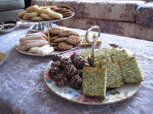 A variety of delicious sweets for our tea