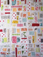 ticker tape progress (sewtakeahike) Tags: quilt quilting quilts patchwork quiltblocks tickertapequilt