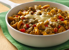 Cajun Turkey Burger Skillet (Betty Crocker Recipes) Tags: dinner turkey recipe burger tasty delicious cheeseburger cajun pillsbury skillet bettycrocker macaroniandcheese meltedcheese spicyfood redbellpepper pepperjack hamburgerhelper cajunfood turkeyburger skillett whiteskillet cajunburger cajunrecipes bettycrockerpasta cajunskillet hamburgerhelperrecipes