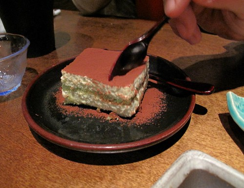 green tea tiramisu at Okan