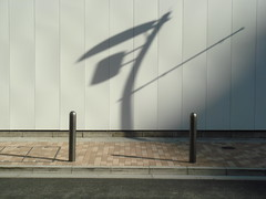 just a shadow... (Samm Bennett) Tags: street shadow man japan walking tokyo walk noone sidewalk step someone curb wishyouwerehere