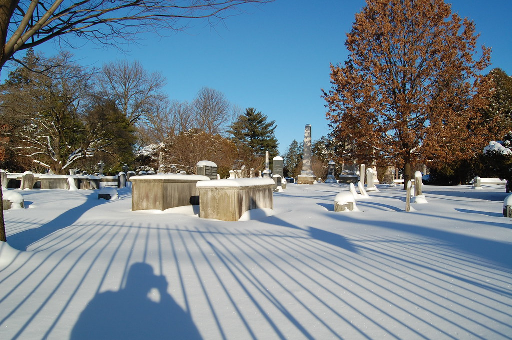 The cemetary of Nassau Presbyterian, founded in 1757