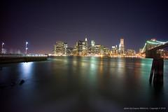 Brooklyn Bridge & wall street (jev) Tags: leica night manhattan rangefinder brooklynbridge leicam9 cosinavoigtlander15mmf45heliar longexposurewallstreet
