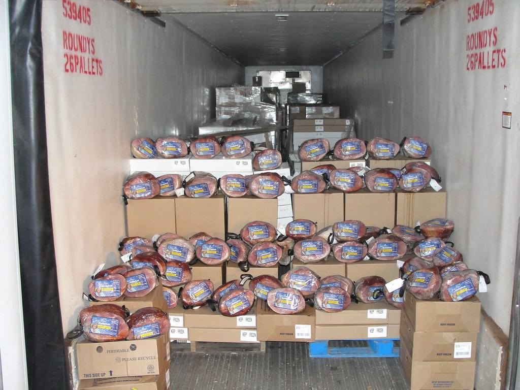 Unloading Smithfield Hams