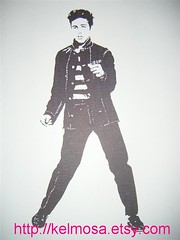 elvis 002 (Large) (Kelmosa) Tags: blackandwhite art silhouette drawing elvis dancer prison jail singer marker celebrities sharpie convict elvispresley bluesuedeshoes jailhouserock
