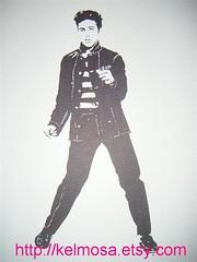 elvis 002 (Large) (Kelmosa) Tags: blackandwhite art silhouette drawing elvis dancer prison jail singer marker celebrities sharpie convict elvispresley bluesuedeshoes jailhouserock